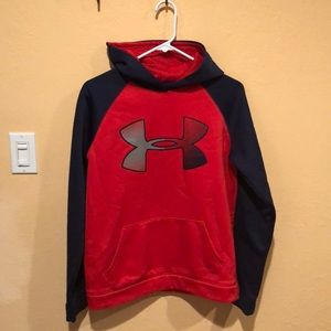Red Gray and blue Under Armor Sweatshirt
